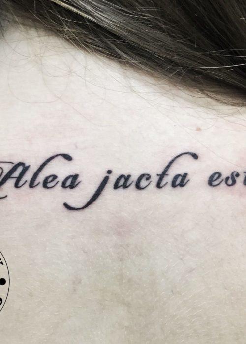 фото тату Alea jacta est