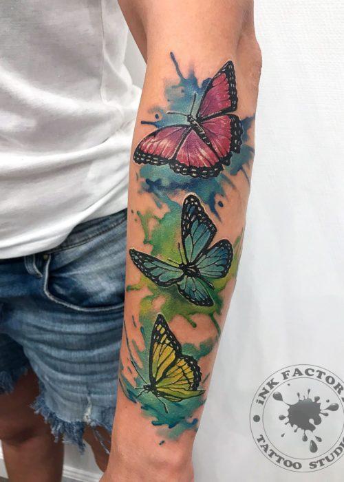 фото тату Бабочки