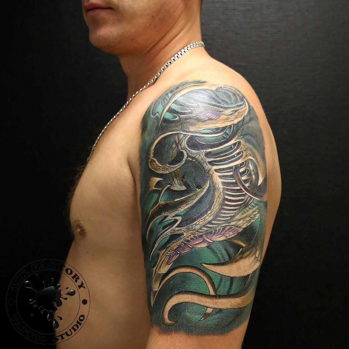 фото тату Татуировка тигр на плече 213