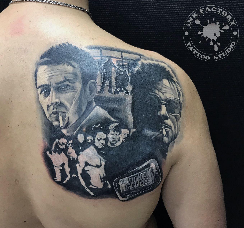 фото тату Мужской тату в стиле 421