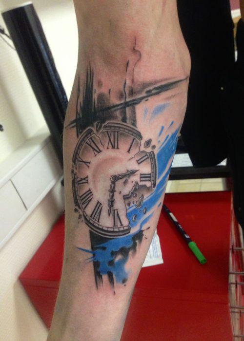 фото тату Часы на руке
