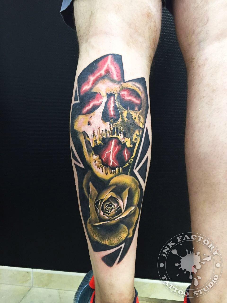 фото тату Сова в стиле стимпанк тату 207