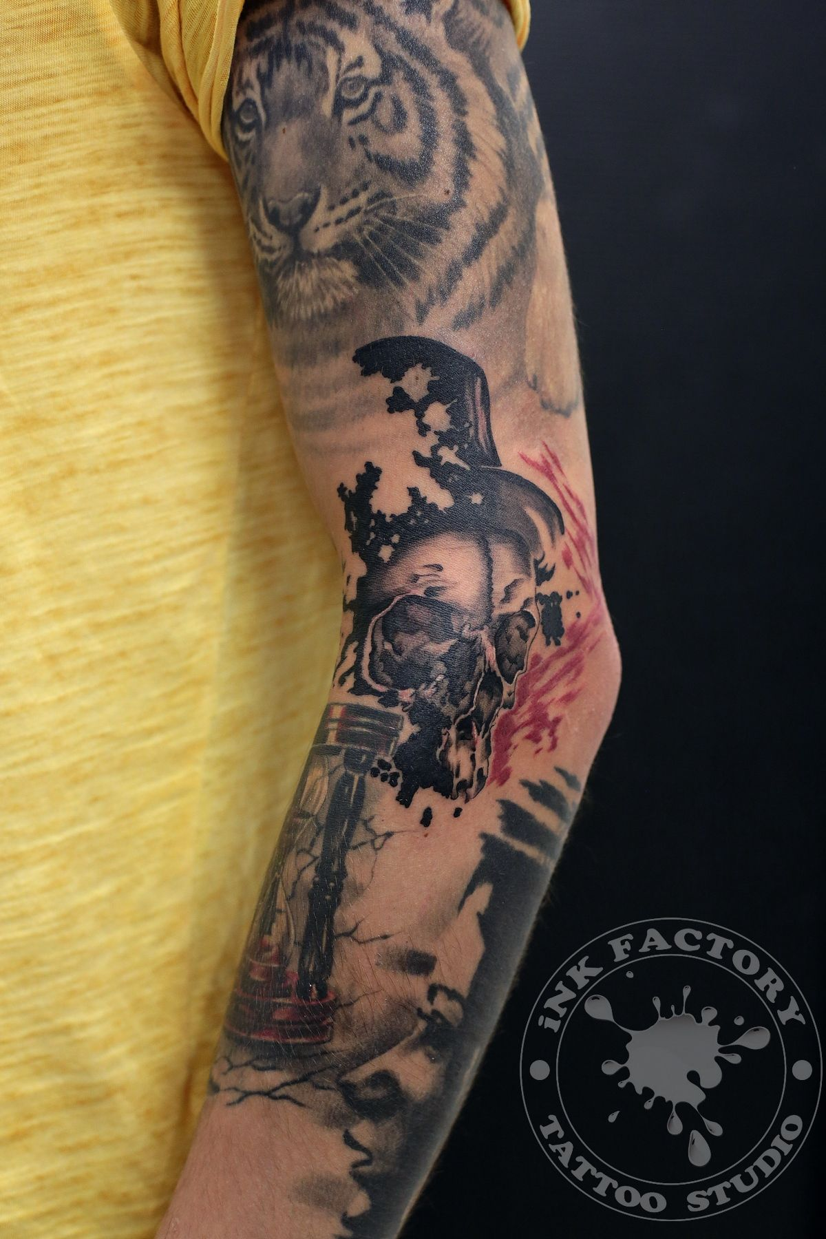 фото тату Сова в стиле стимпанк тату 299