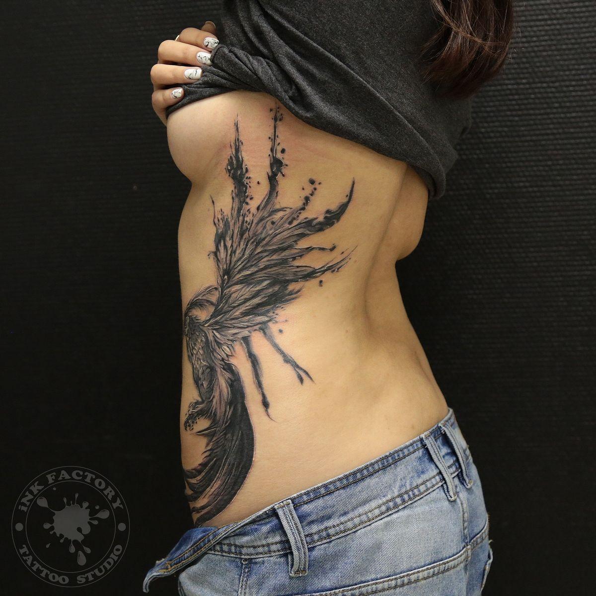 Феникс на боку - сделано в InkFactory