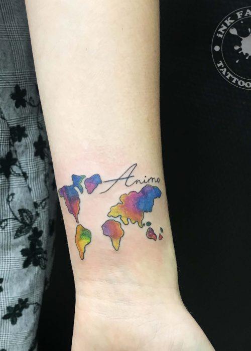 фото тату Карта мира