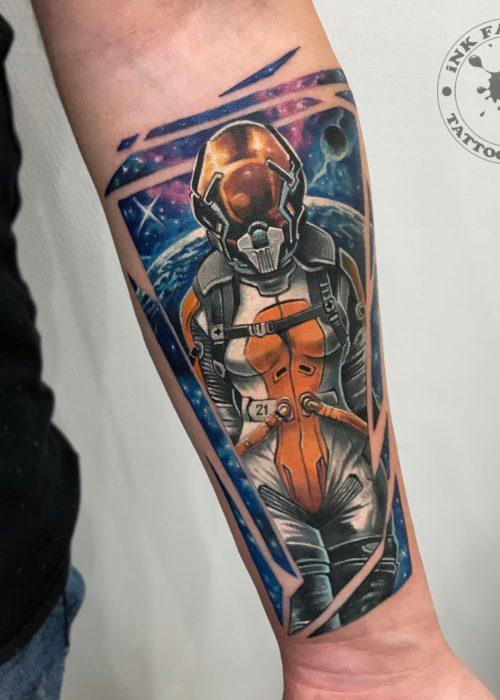 фото тату Космический арт
