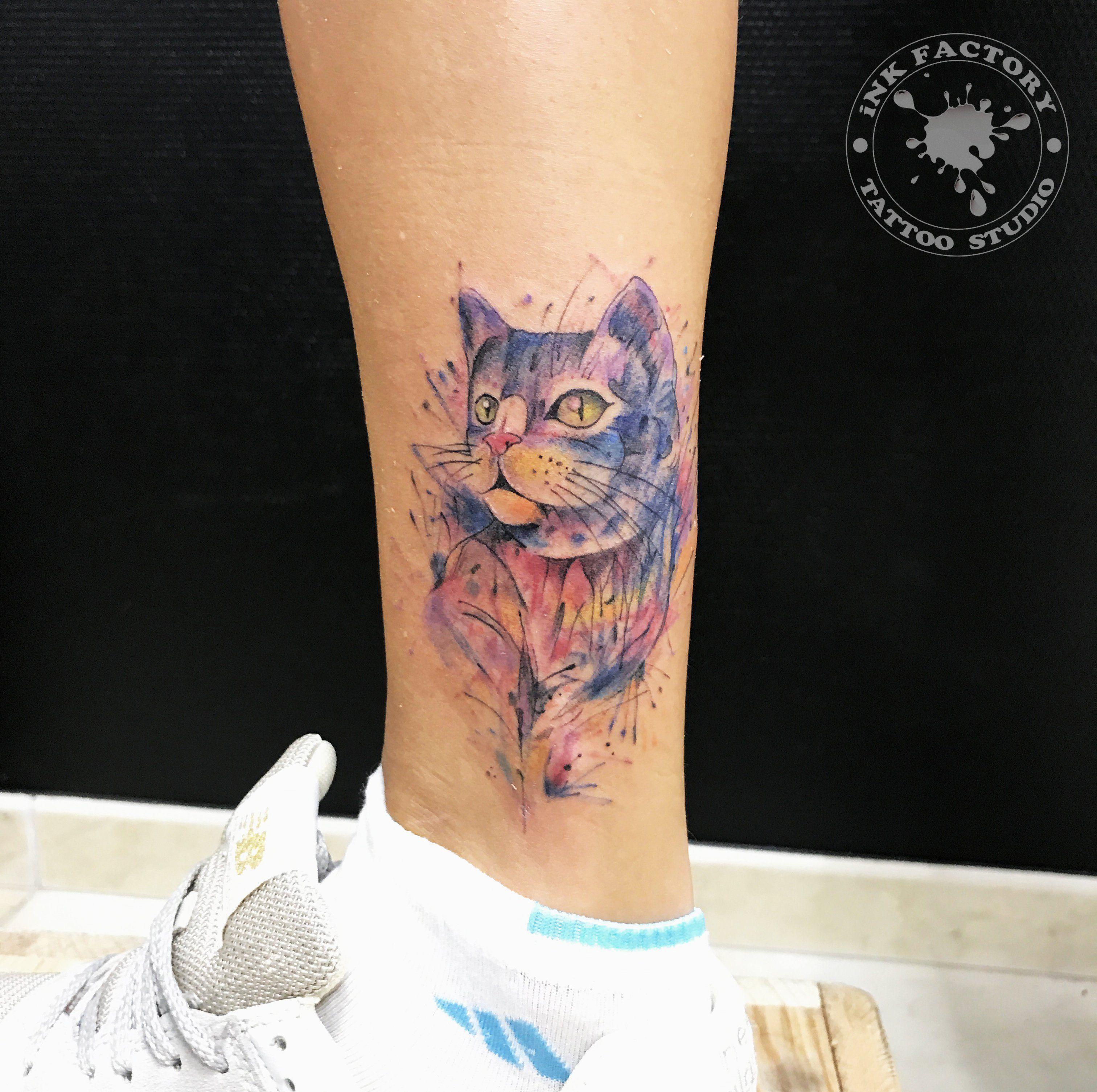Котик в акварели - сделано в InkFactory
