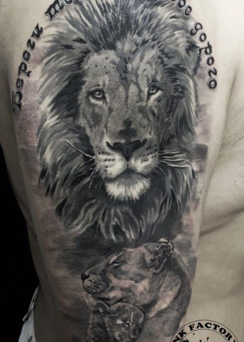 фото тату Семейство львов