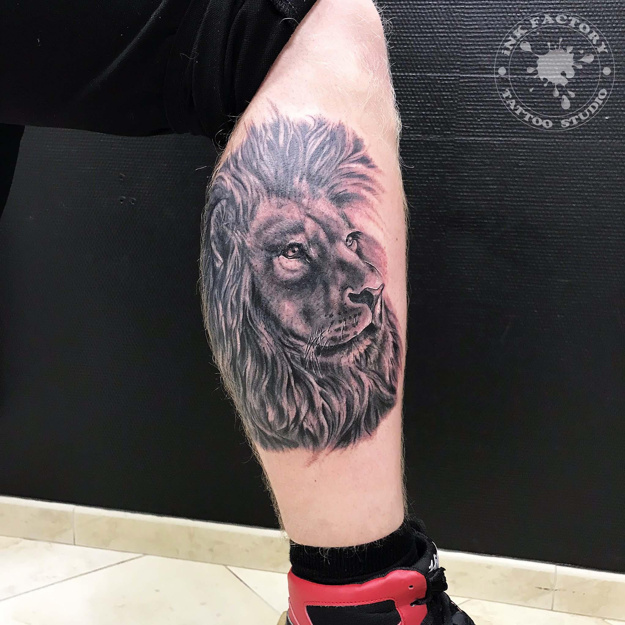 Лев на икре