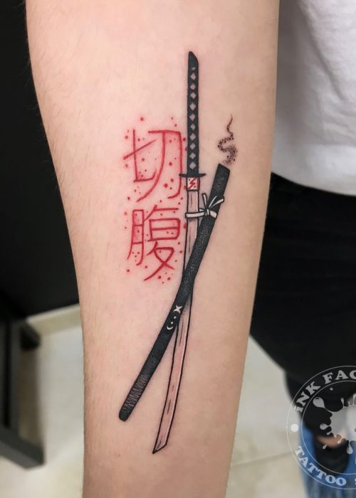 фото тату Меч самурая