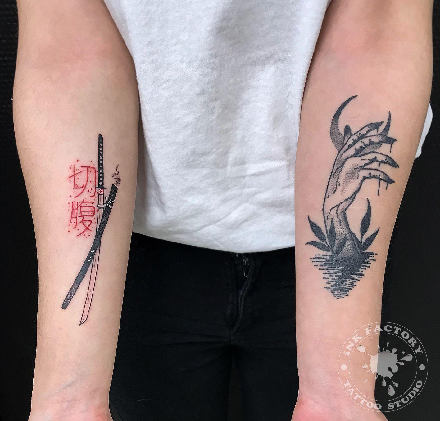 Меч самурая - сделано в InkFactory