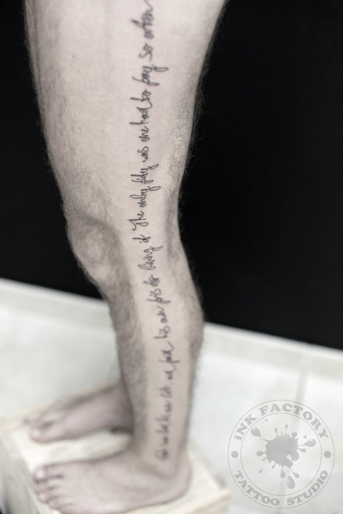Надпись на все ногу