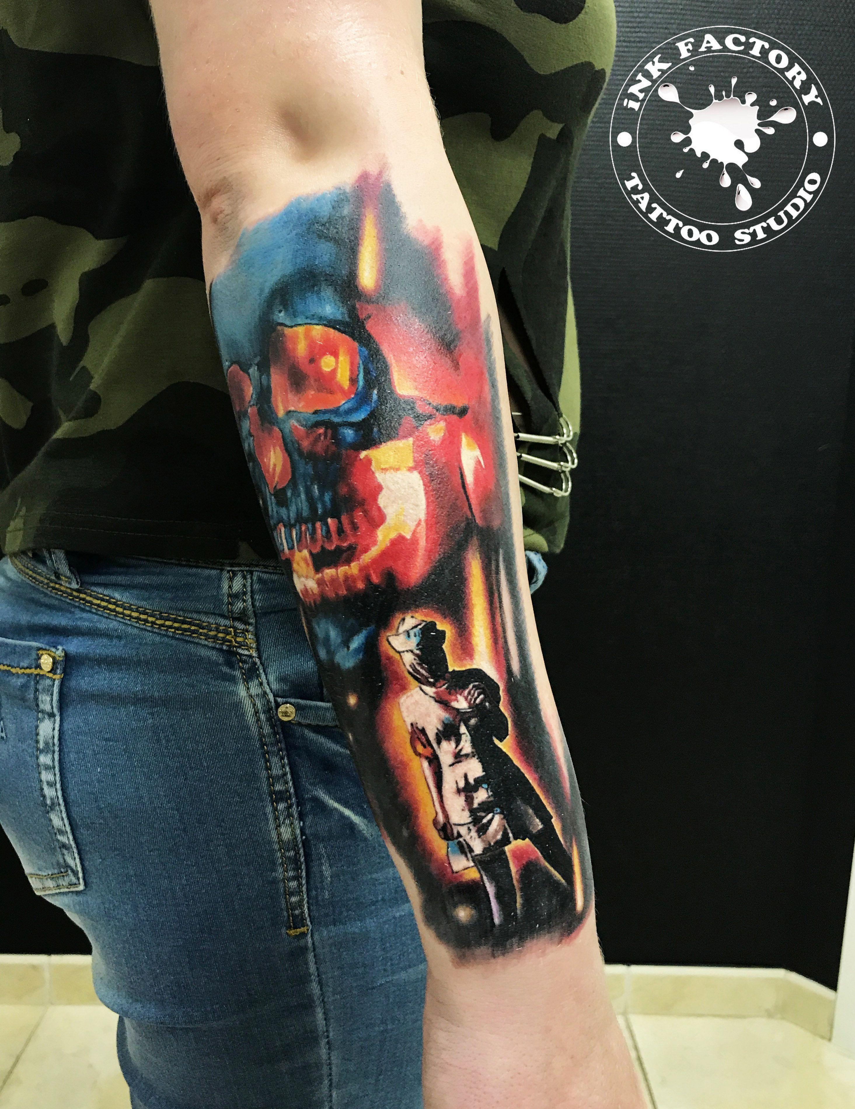 Огненный череп - сделано в InkFactory