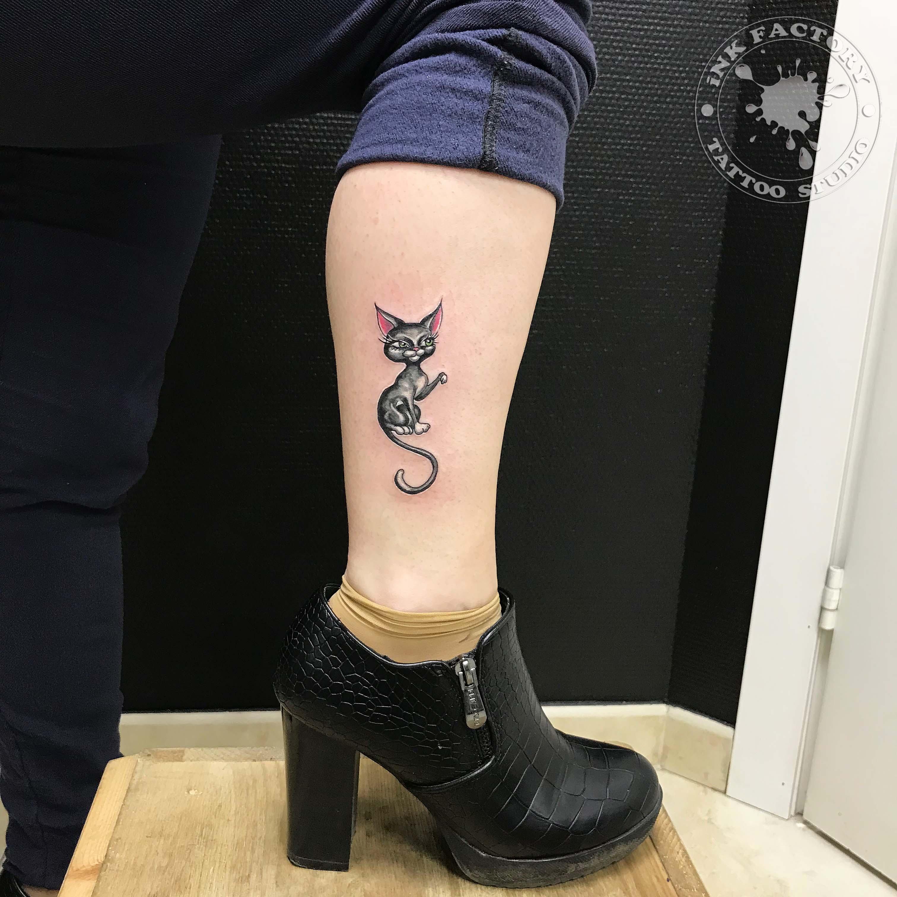 Парная тату котики - сделано в InkFactory