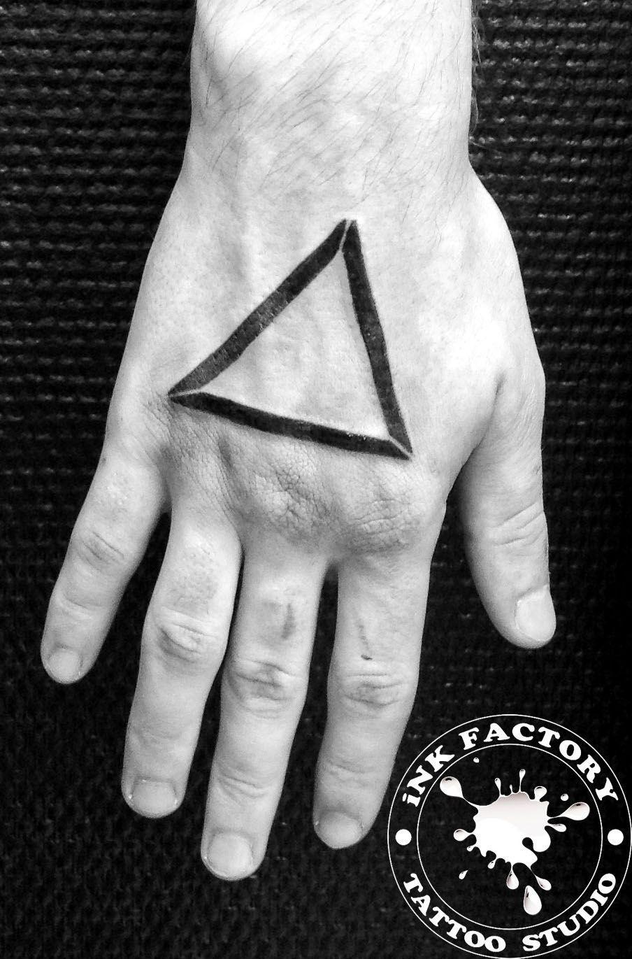 Паук и треугольник  - сделано в InkFactory