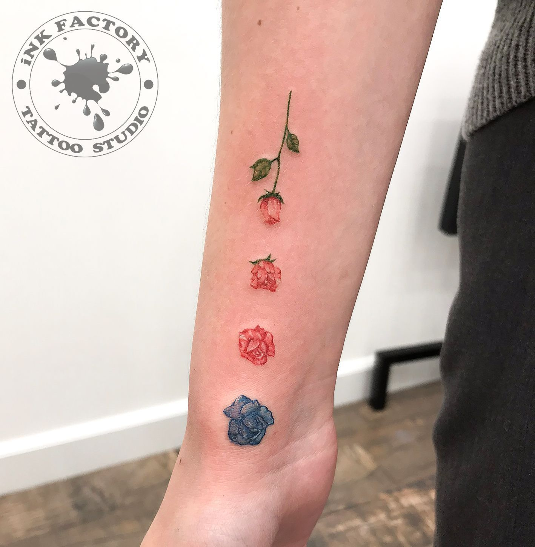 Перекрытие старой маленькой татуировки