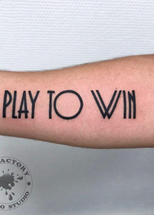 фото тату Play to win