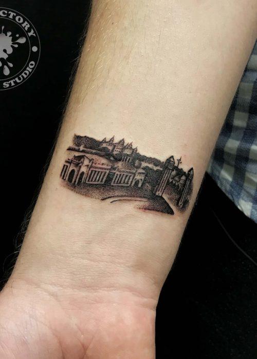 фото тату Площадь Испании в Барселоне