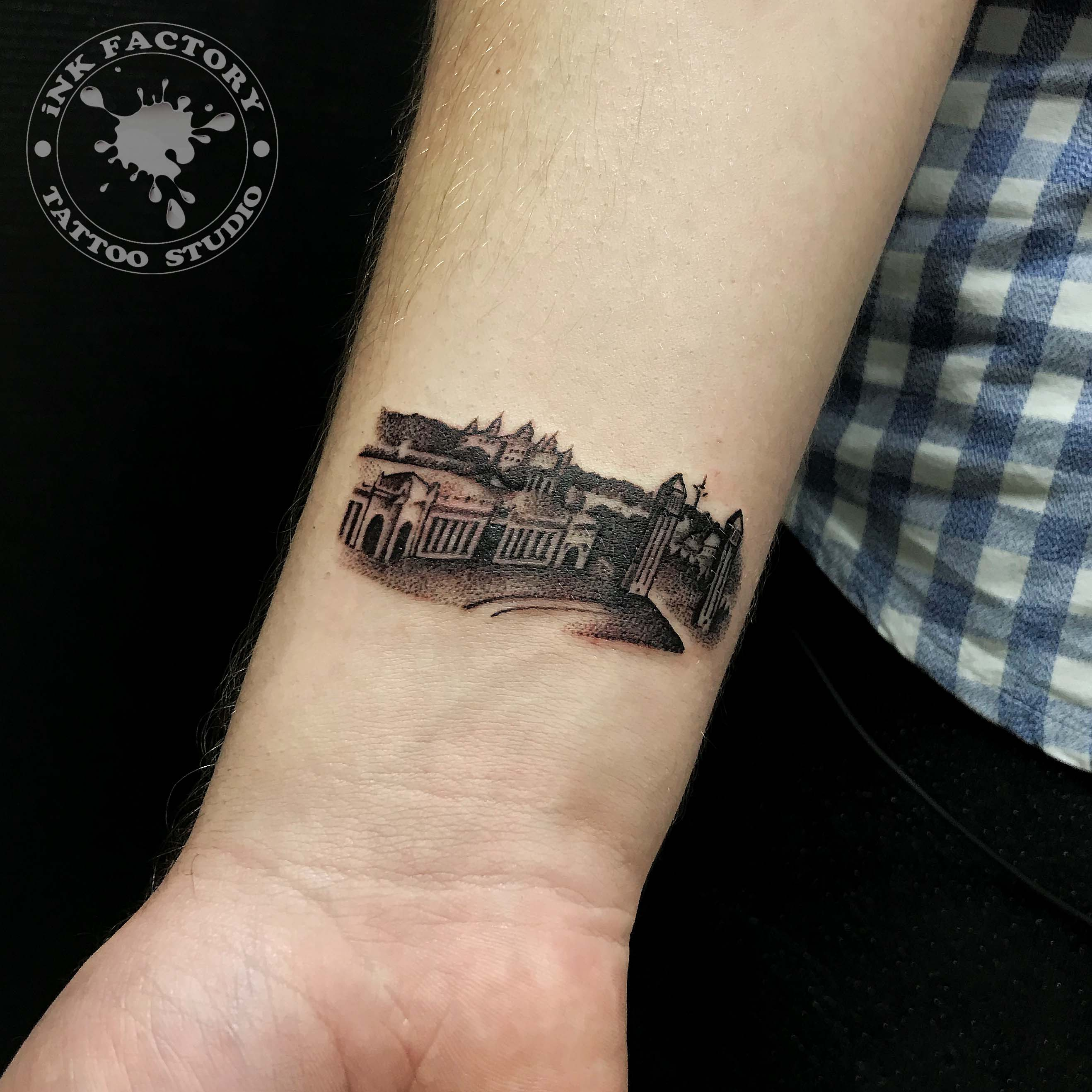 фото тату Сова в стиле стимпанк тату 276