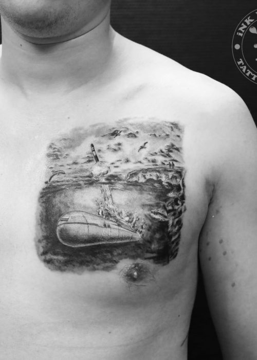 фото тату Подводная лодка