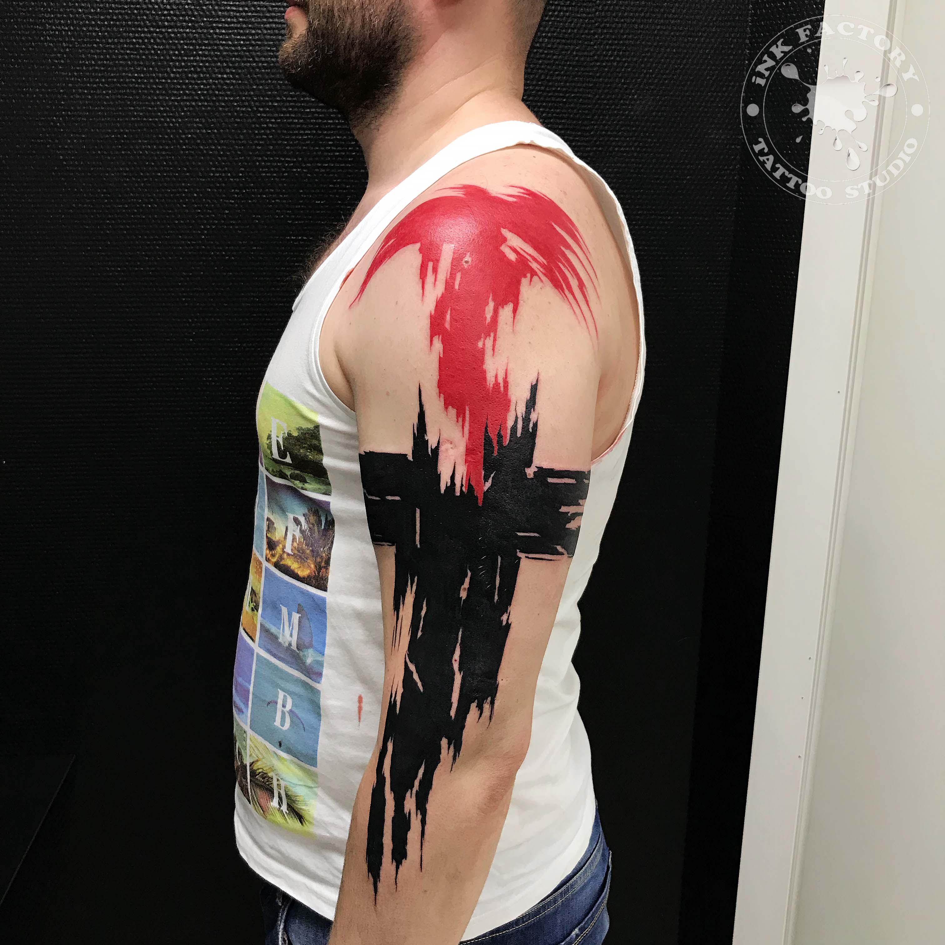 фото тату Татуировка феникс на плече 470
