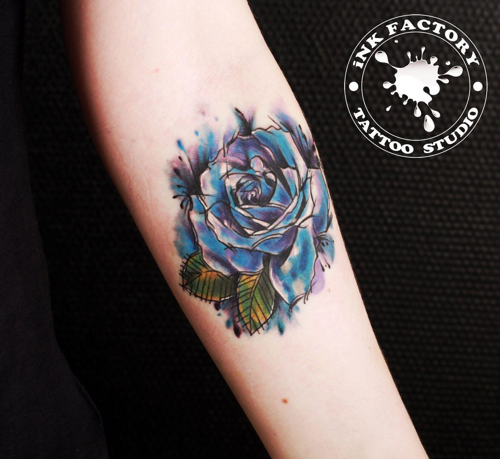 Роза - сделано в InkFactory