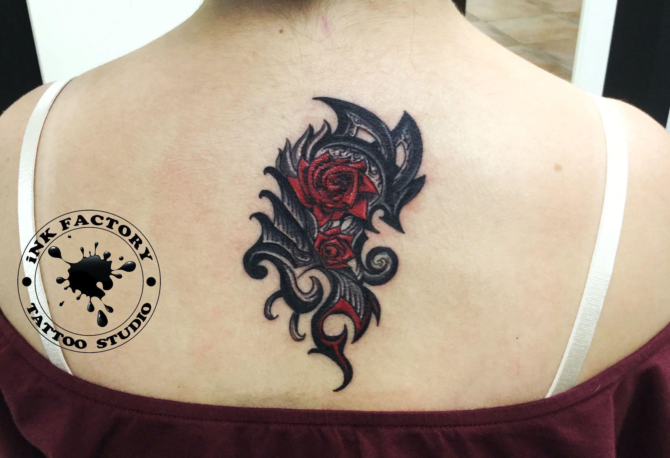Розы - сделано в InkFactory