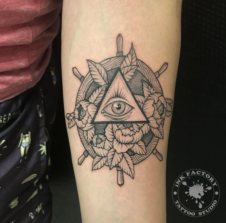 фото тату Волк в славянском стиле тату 533