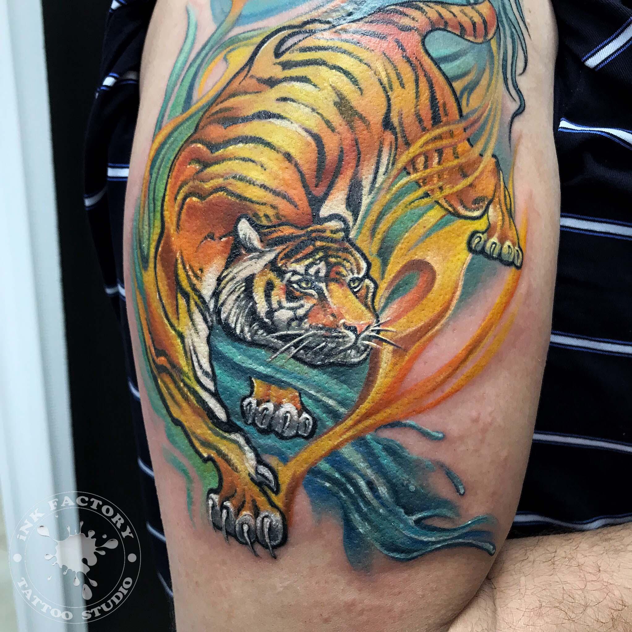 Тигр с драконом - сделано в InkFactory