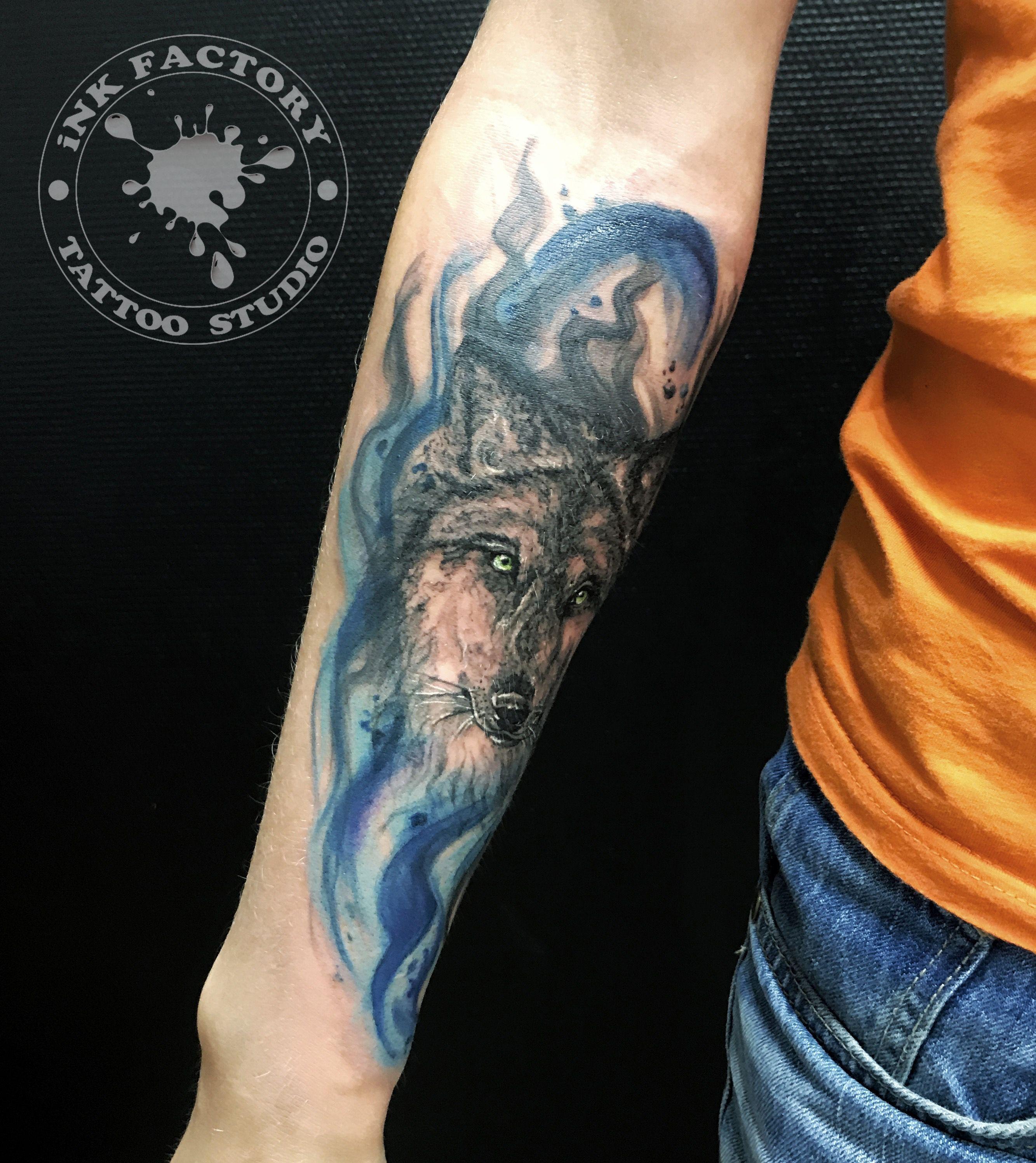 Волк с акварелью