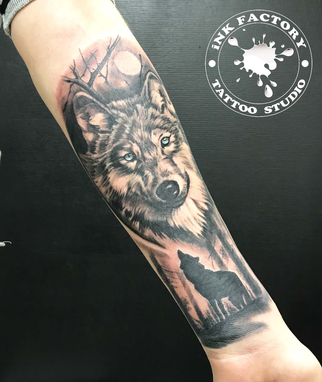 Волк с голубыми глазами - сделано в InkFactory