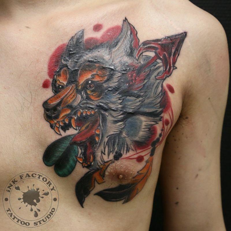 Волк со стрелой - сделано в InkFactory