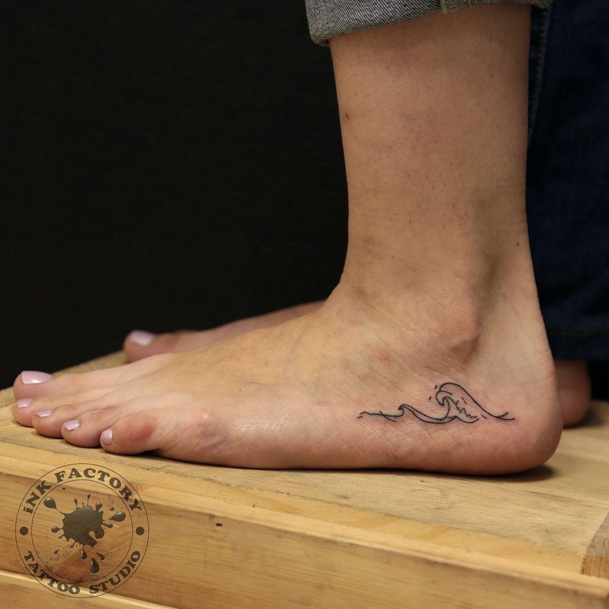 Волна на ноге