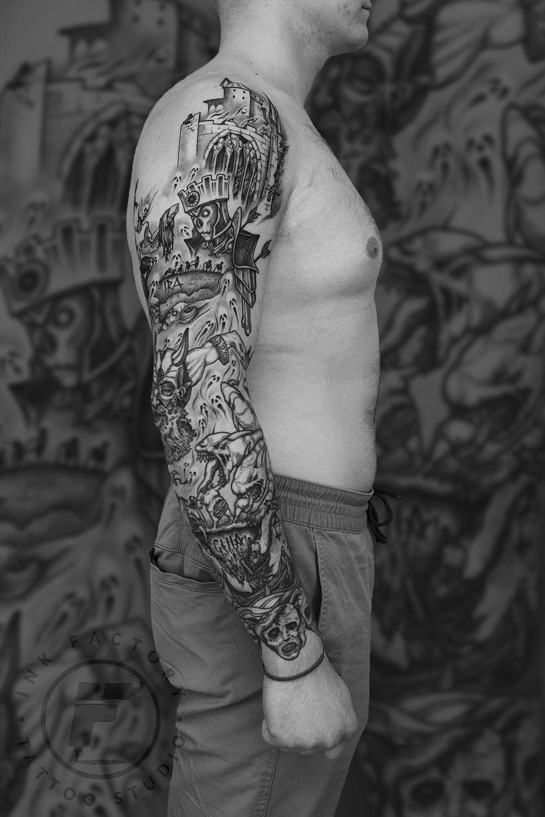 фото тату Тату славянские руны на плече 590