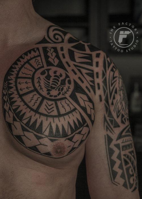 фото тату Полинезия для мужчин в Ink Factory